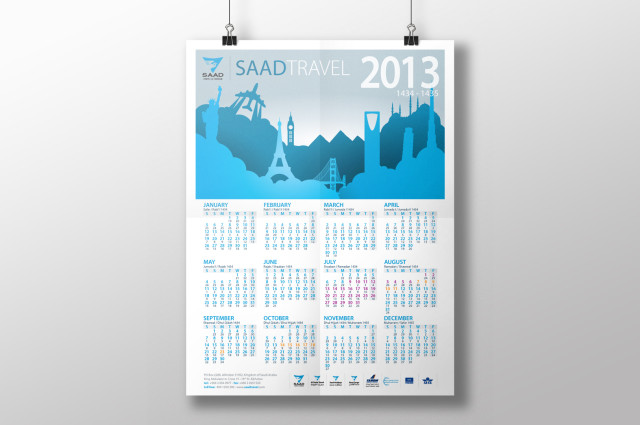 Saad Travel Calendar 2013