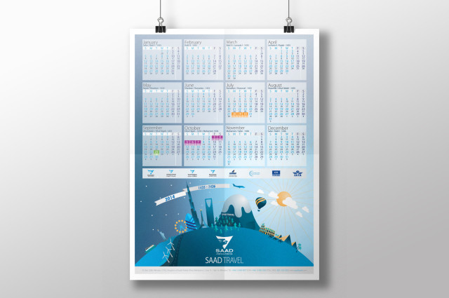 Saad Travel Calendar 2014